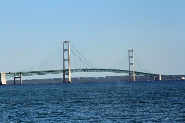 Mackinac Bridge from Sheplers Ferry