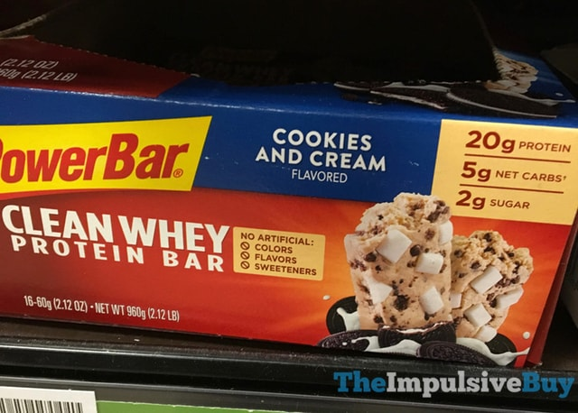 PowerBar Cookies and Cream Clean Whey Protein Bar