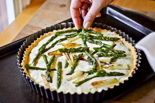 Spring Vegetable & Goat Cheese Tart 15