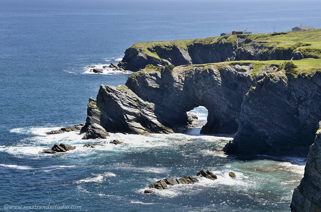 The sea arch at Burnt Point