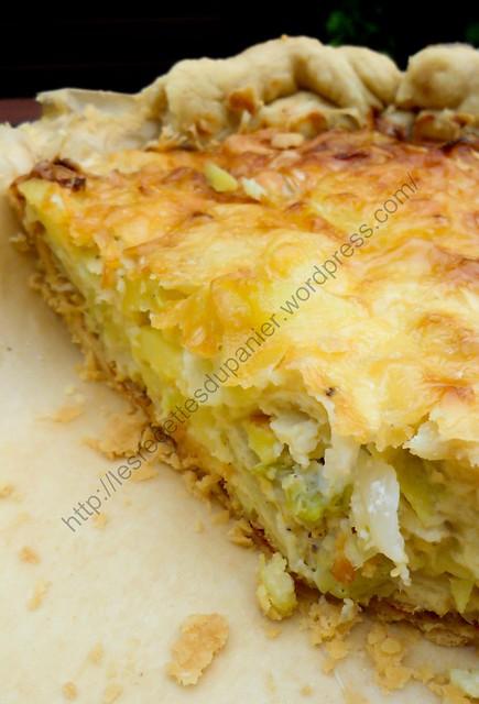 Tarte crémeuse au chou pointu et pommes de terre / Creamy Pointed Cabbage and Potato Tart
