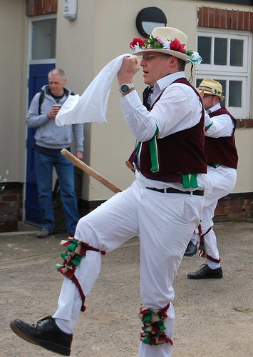 Leeds Morris Men Thorner Beer Festival Hook Leg