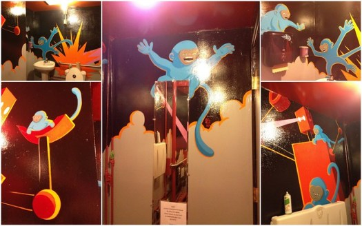 Rojo Bathroom Art by John Lytle Wilson