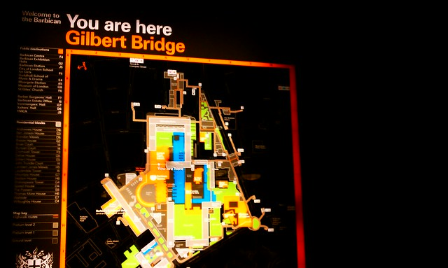 Gilbert Bridge at The Barbican Centre, London.