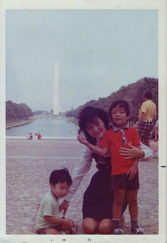 Terry, Mom, and Ken at Washington D.C. (1973)