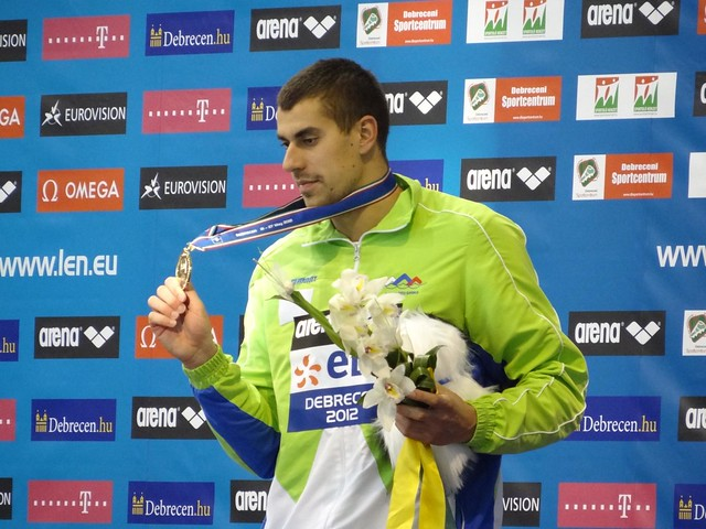 Damir Dugonjic European champion in the 50 breaststroke