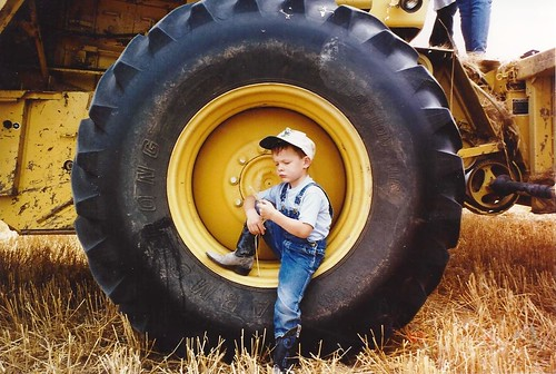 Buba on tire in '96