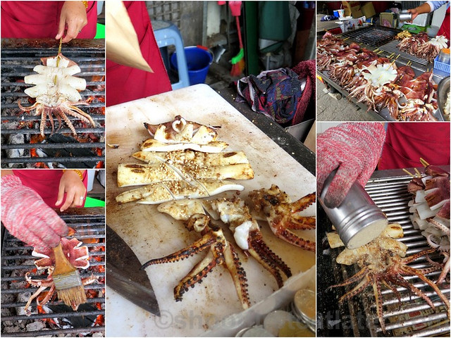 Tamsui, Taipei- grilled squid