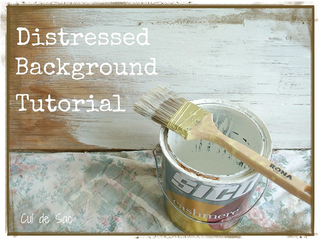 distressed background tutorial