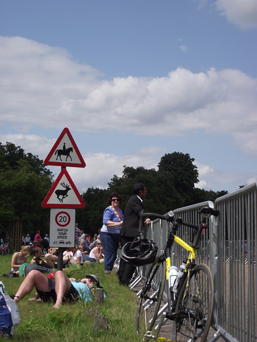 Waiting for the Olympic cycling