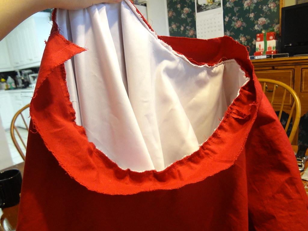 lining sewed
