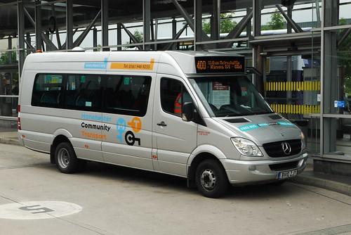Manchester Community Transport Mercedes BV10 KJY, Oldham Bus Station