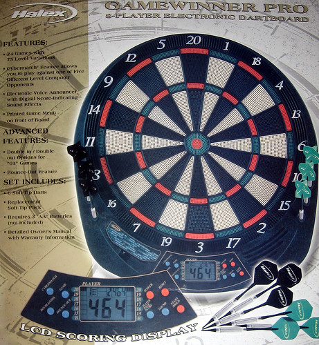 20120623 - yardsale booty - 7 - electronic dart board BUT NOT REALLY (lying bitch!) - IMG_4429