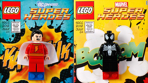 Shazam! and Venom Minifigs SDCC Exclusive