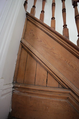 Original 1800's wood staircase detailing