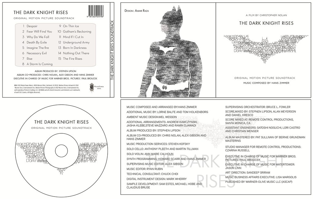 CD cover - Dark Knight Rises