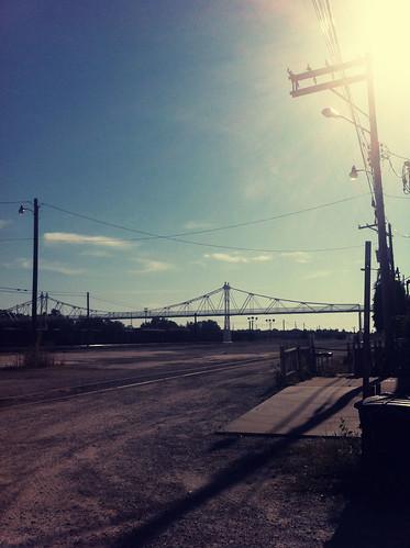 tracks and sun