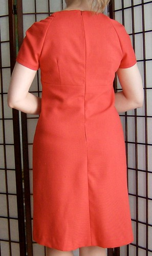Red Linen Dress Back