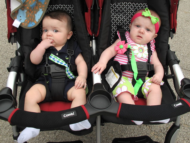 Twins at Neighborhood Ice Cream Social