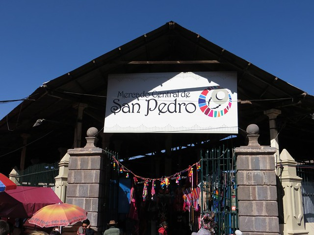 San Pedro Market sign
