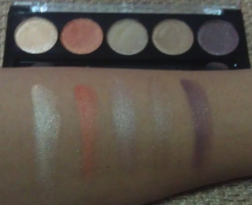 L.A. Colors 5 Metallic Eyeshadow Desert Dune swatches shot