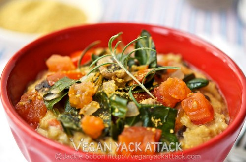 Give Savory Rosemary Veggie Oats a try with this full-flavored dish packed with veggies, that is very easy to make.