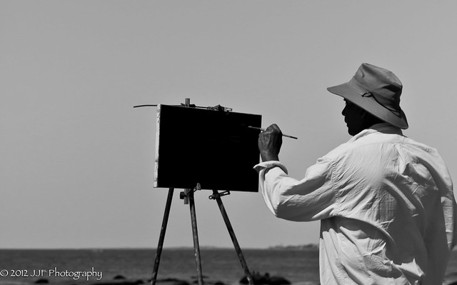 Painter 1 - B&W Landscape