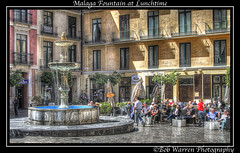 Malaga Fountain at Lunchtime