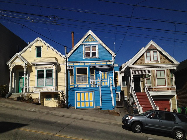 Colorful San Francisco homes, Castro Street