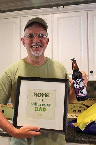 2012023. Dad's day cross stitch.