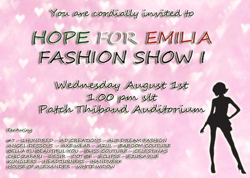 HOPE FOR EMILIA FASHION SHOW I by Anna Sapphire