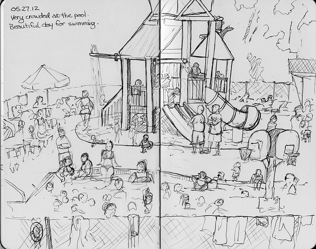 Camping Sketches - Pool