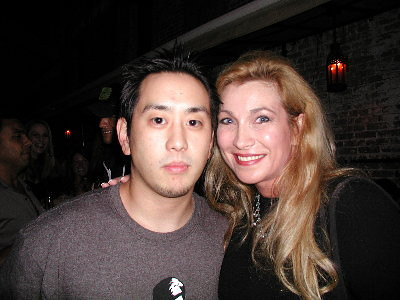 Linkin Park DJ Mr Joe Hahn with Cheryl Shuman at the Playboy Mansion by CherylShumanInc