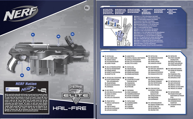 Nerf N-Strike Elite Hail-Fire Instruction Manual - 01
