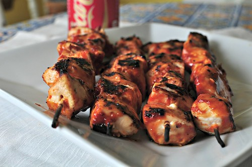 Coca Cola BBQ Chicken Skewers