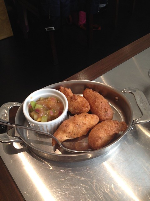 Brentwood corn fritters