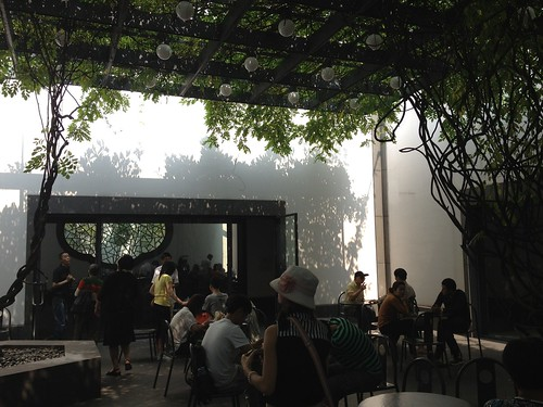Wisteria Tea room inside the Suzhou Museum