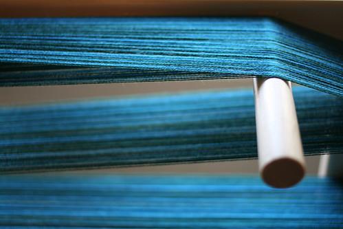 pirtti handwoven - blue green warp