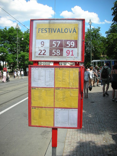 A temporary tram station for a music festival in Prague