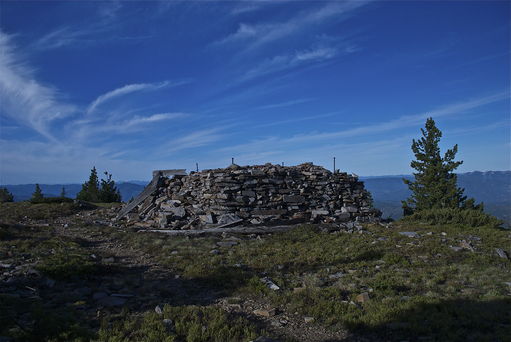 Remains of fire lookout