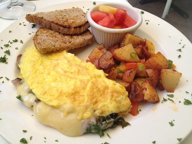 Arugula and mushroom omelette - Jake's