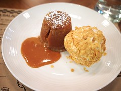Hot Caramel Lava Cake. &made by Bruno Menard Pacific Plaza