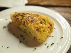Spanish Omelette: Prawns and Asparagus. Foodbar Dada, 60 Robertson Quay