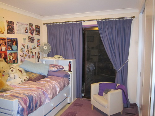 Caitlin's room after installation of new bed and lots of tidying