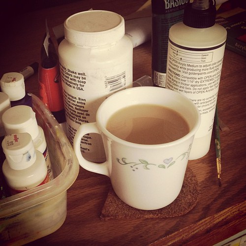 Saturday morning #coffee and #clutter.