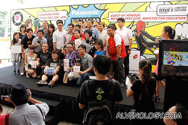 Award winners, judges, Minister Heng Swee Keat, sponsors and all the important people on stage