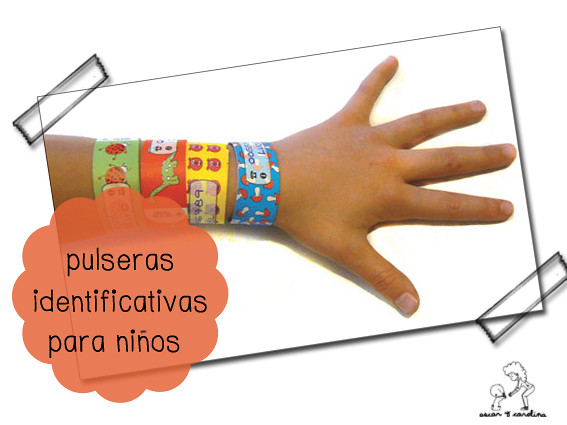 pulseras identificativas niños