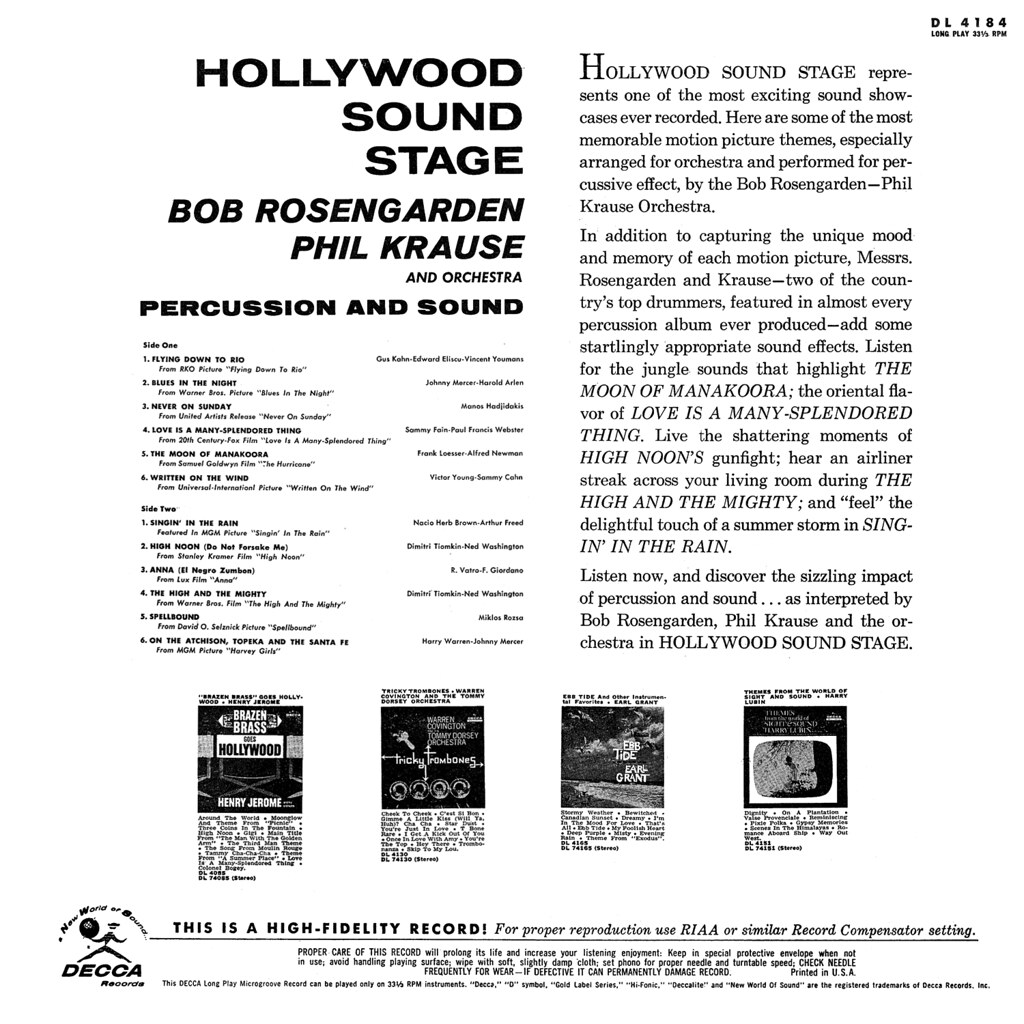 Bob Rosengarden / Phil Krause - Hollywood Sound Stage