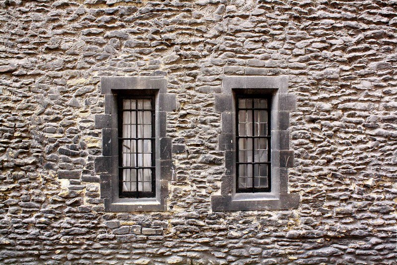 Twin windows and old bricks, Cambridge