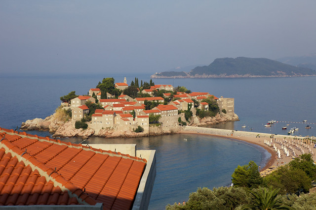 View on St. Stefan island